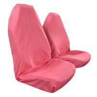 Car Seat Covers, Throw Over, Slip On Fit Most Vehicles, Pink Pair