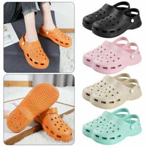 Crocs Mens Womens Surf Clog Slide Beach Sandals Pool Slip on Shoes Size UK