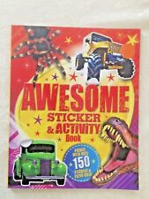"""Sticker & Activity Book Over 150 Stickers & Press-Outs """"Awesome"""" New"""