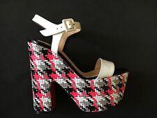 Christian Louboutin 'Bella' Plaid Platform Sandal Size:39.5 New