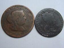 1848 - 1868 ISABEL II LOTE 2 MONEDAS SPAIN SPANISH
