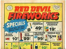 """1984 Vintage Sales Catalog Sheet: """"RED DEVIL FIREWORKS"""""""