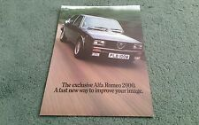 1980 1981 ALFA ROMEO ALFETTA 2000 SPECIAL LIMITED EDITION SALOON - UK BROCHURE
