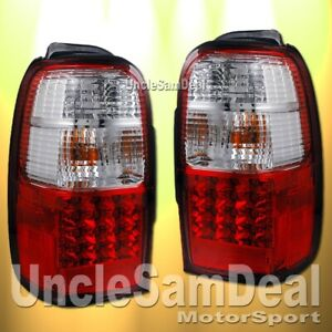 FOR 96-00 TOYOTA 4RUNNER EURO CLEAR RED OE STYLE LED TAIL LIGHTS DIRECT FIT PAIR