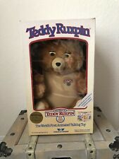Vintage 1985 Wow Teddy Ruxpin Animated Talking Toy With Original Box