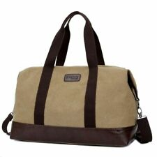 Large Capacity Mens Bag Sport Travel Duffle Zipper Canvas Style Bag