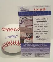 Trevor Story Rookie Signed Rawlings Official MLB Baseball - JSA SD COA