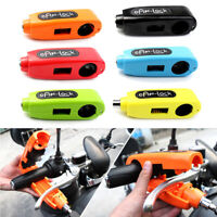 Motorcycle Handlebar Grip Brake Lever Lock CNC Anit Theft Security Caps-Lock