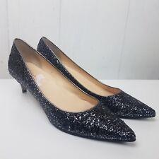Cole Haan Juliana Heels size 10B Silver Black Glitter Shoes