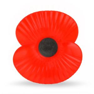 Car Poppy | The Royal British Legion | Tie Wrap Plastic Durable Poppies Charity