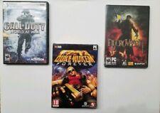 Pc Game Lot. Duke Nukem Forever + COD Call Duty World War + New NIP Necrovision