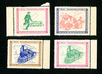 US Stamp Set of 4 Expo Labels by Nicklin, 1934 NH