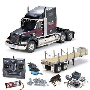 Tamiya Truck Knight Hauler komplett + MFC-01, Flachbett, Kugellager - 56314SET3