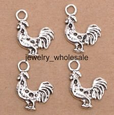 15pcs Tibetan Silver Chicken Charms Pendants 20x15mm Jewelry D3163