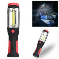 2in1 COB LED Camping Work Inspection Light Lamp Hand Torch Magnetic Flashight