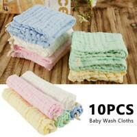 5Pcs Gauze Muslin Baby Kids Bibs Wash Face Towel Cloth Hand Saliva Bath Towel X