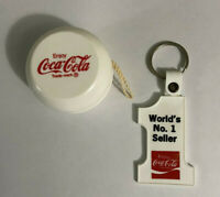 Rare Design Vintage COCA COLA YO-YO White with Red Lettering with Coke Keychain