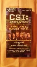 CSI: CRIME Game & Booster Pack #1 (Specialty Board Games) 3 New Stories NIB