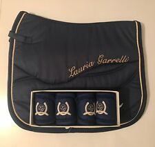 NEW IN-Lauria Garrelli HKM Queens-Deep Blue-Matchy Matchy Set-SaddlePad-Bandages