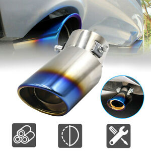 Auto Exhaust Pipe Tip Tail Muffler Stainless Steel Replacement Car Accessories