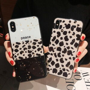 Leopard Glitter Bumper Soft Case Cover For iPhone 11 Pro 7 8 Plus 6s Xs Max XR X