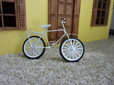 BICYCLE  - WHITE METAL- DOLL HOUSE MINIATURE