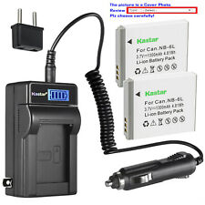 Kastar Battery LCD AC Charger for Canon NB-6L NB-6LH & Canon PowerShot SX260 HS