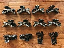 """LOT OF 12  WOMEN LADY GIRL PLASTIC HAIR CLIPS CLAWS CLAMPS 3-1/4"""" RESALE PRICE"""