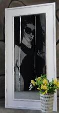 Rechteckige Deko-Spiegel im Landhaus-Stil aus Holz