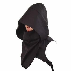 Medieval Cowl Hood Scarf Halloween Hooded Wicca Pagan Cosplay Costume Hat Unisex