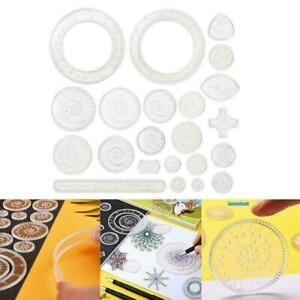 22Pcs Spirograph Geometric Ruler Drafting Tools Stationery Drawing Toys Set D8Y1