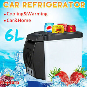 12v Portable Mini Car Freezer Cooler Warmer Electric Fridge Travel Box 6L Box UK