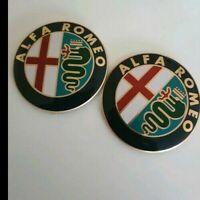BOOT BONNET Alfa Romeo Badge 74mm FRONT BACK SET 147 156 159 Giulietta GIULIA