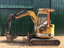 Mitsubishi MXR35 Zero tail swing 3.5ton Mini Digger Excavator - Knuckle boom