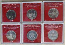 1977-1980 RUSSIA USSR CCCP SOVIET UNION - MOSCOW OLYMPICS PROOF LIKE SET (6)
