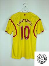 Liverpool Coutinho #10 14/15 Away Camiseta de fútbol (M) fútbol Jersey Guerrero