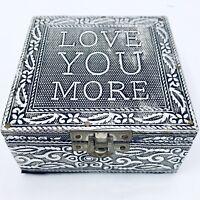 Trinket Box LOVE YOU MORE Velvet Lined Valentines Day