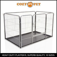 Heavy Duty Cozy Pet Puppy Playpen Run Crate Pen 75.5cm High Dog Cage - ABS Floor