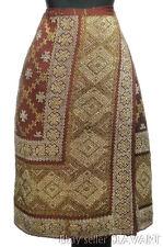 STUNNING Romanian folk costume gold/silver metallic embroidered wrap skirt fota