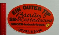 Decal/Sticker: Brown's Restaurant Sing (070516168)