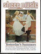 Sheet Music Magazine June/July 1985 Standard Piano / Guitar Norman Rockwell Covr