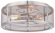 Minka Lavery 4133-84 Downtown Edison 3-Light Ceilling Flush Mount Brushed Nickel