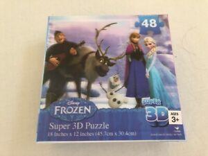 DISNEY FROZEN SUPER 3D 48 PIECE PUZZLE BRAND NEW SEALED GENUINE