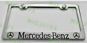 Mercedes Benz Stainless Steel License Plate Frame Rust Free W/ Bolt Caps