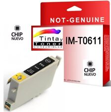 Cartucho de Tinta Non Oem para Epson T0611 T061140 Negro Compatible T611