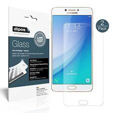 2x Samsung Galaxy C7 Pro Pellicola Protettiva Protezione opaco Vetro Flessibile
