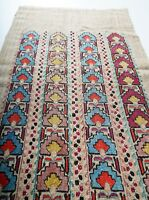 ANTIQUE OTTOMAN TURKISH ARMENIAN GREEK YAGLIK SILK MIHRAB EMBROIDERY TEXTILE