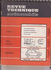 VINTAGE Revue technique automobile N°275 Mars 1969 Honda N360,N600,N600GT