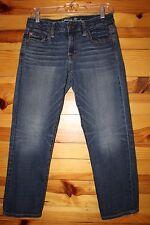 *AMERICAN EAGLE* Women's Juniors Stretch Boy Fit Cropped Capri Jeans 4 Regular