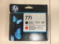 BRAND NEW HP 771 CE017A MATTE BLACK CHROMATIC RED PRINTHEAD DESIGNJET 08/2018